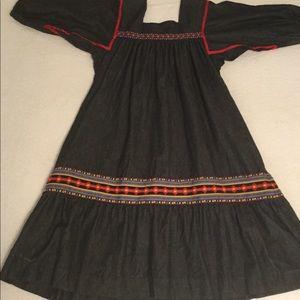 Vintage Denim Hippie Dress